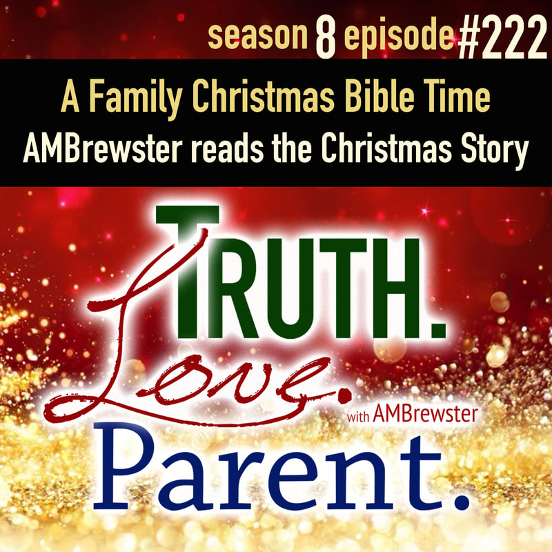 A Family Christmas Bible Time | AMBrewster reads the Christmas Story