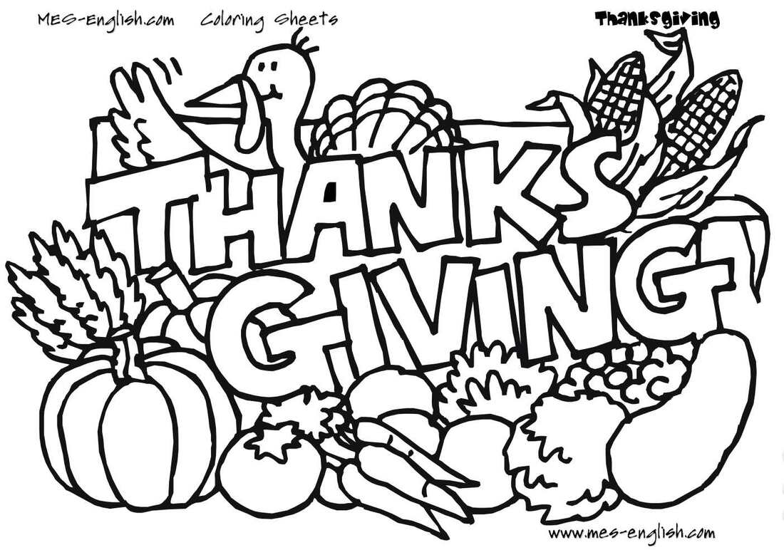 Christian Bible Thanksgiving Coloring