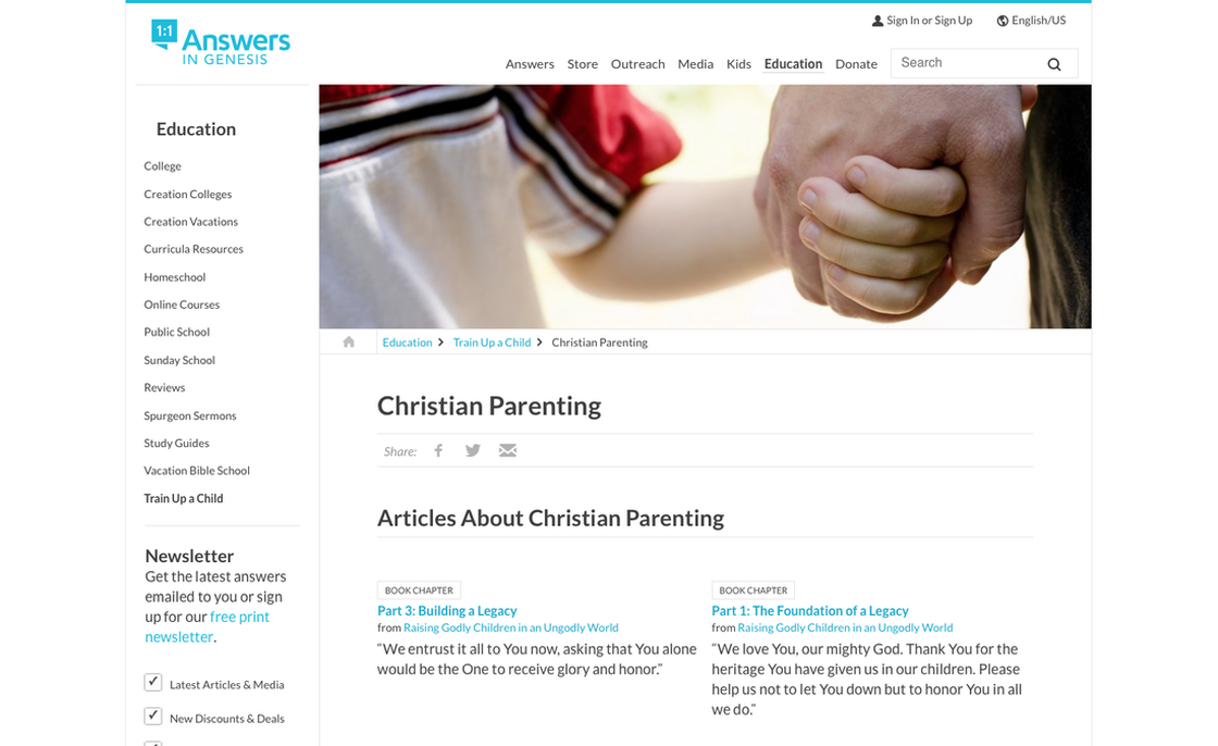 Answers in Genesis Christian Parenting